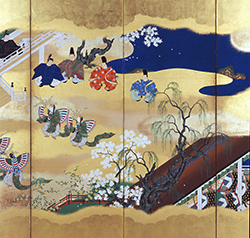 サクラサク名品。今年の目玉は王朝物語の世界「源氏物語絵合・胡蝶図屏風」 / 東京国立博物館