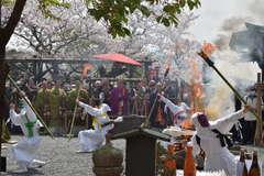 鬼踊りを力強く披露したマダラ鬼神祭=桜川市本木の雨引観音 / 茨城新聞