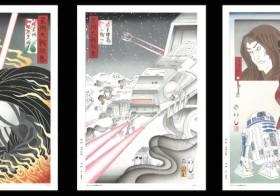 数量限定の先行販売 浮世絵の伝統を受け継ぐ職人たちが「スター・ウォーズ」の世界を描く