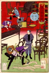 「諸工職業競 テエフル椅子製造」応需年一画 (明治12年 縦353×横237mm) / マイナビニュース