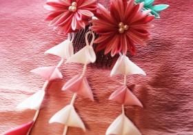 \間もなく締切/江戸つまみかんざし職人に習う 秋なでしこの髪飾り / denmira blog