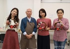 【開催報告】江戸つまみかんざし職人に習う クリスマス・リース